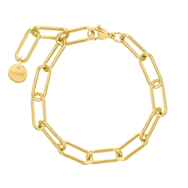Gouden schakelarmband lange schakels