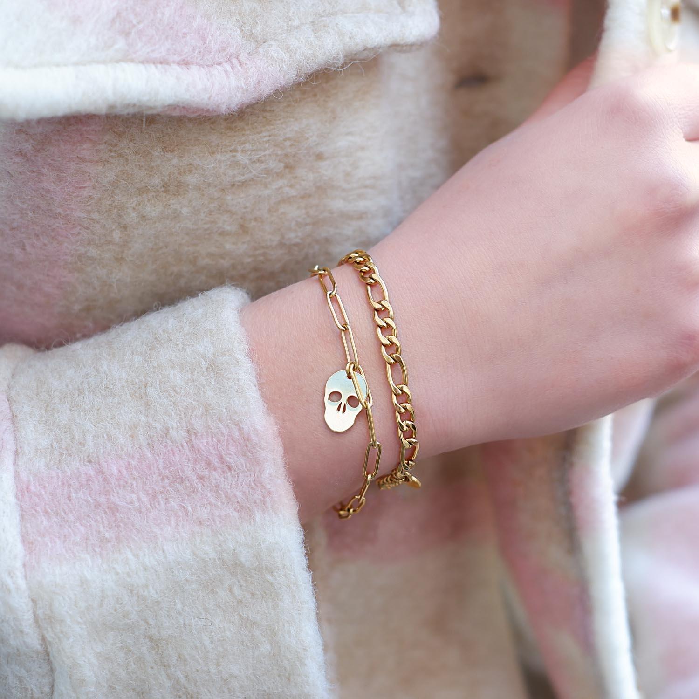 mooie armband met schakels en hanger
