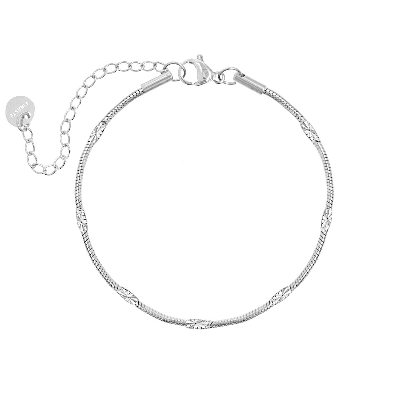 Zilver fijn gedraaid armbandje