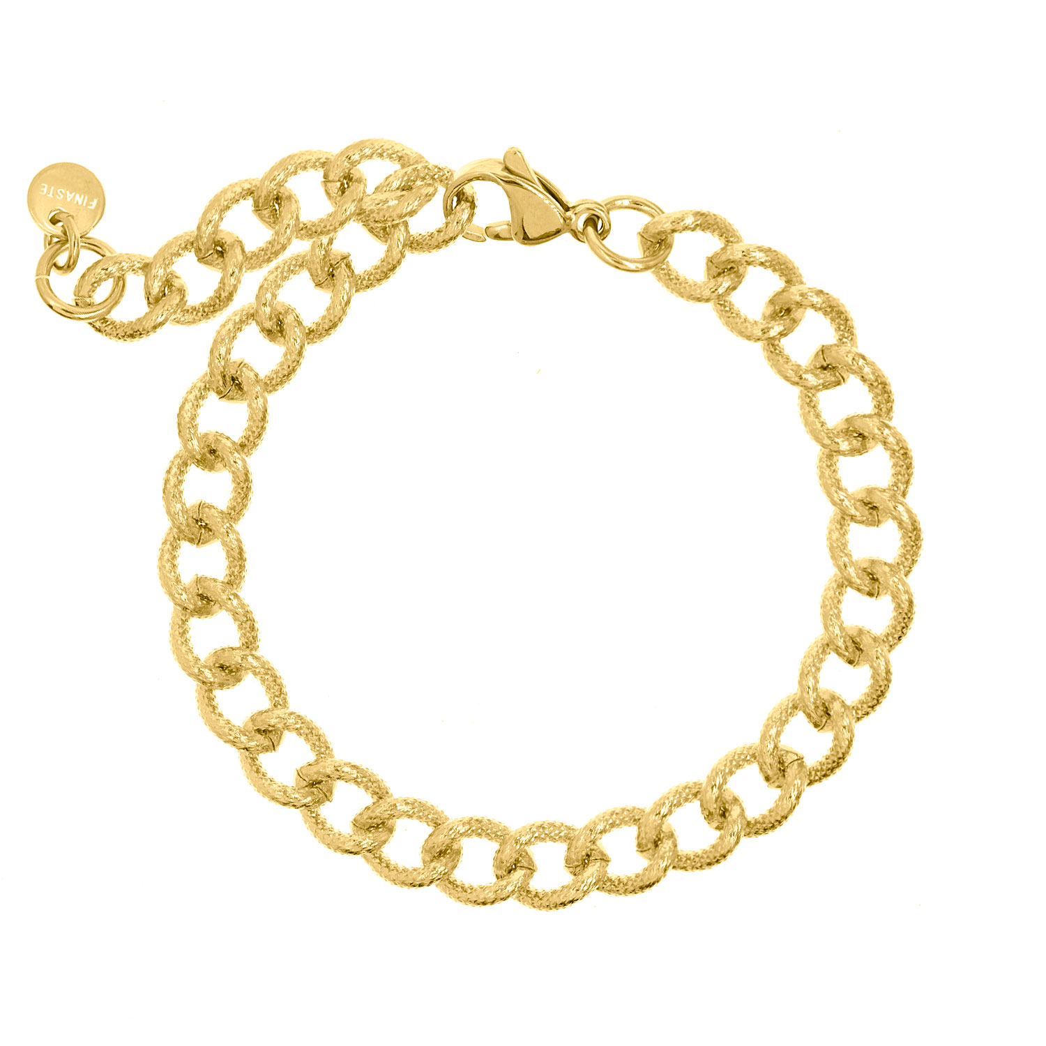 Gouden trendy chain armband