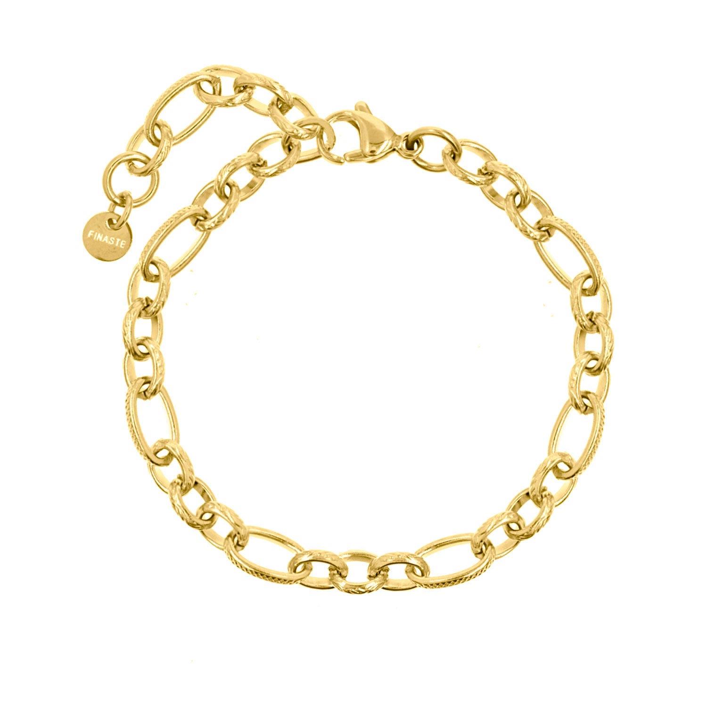 Gouden schakelarmband gemixt