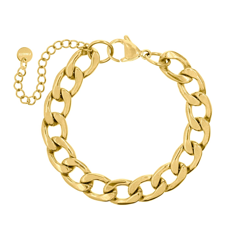 Big chain armband goud