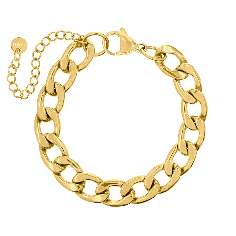Grove chain armband goudkleurig
