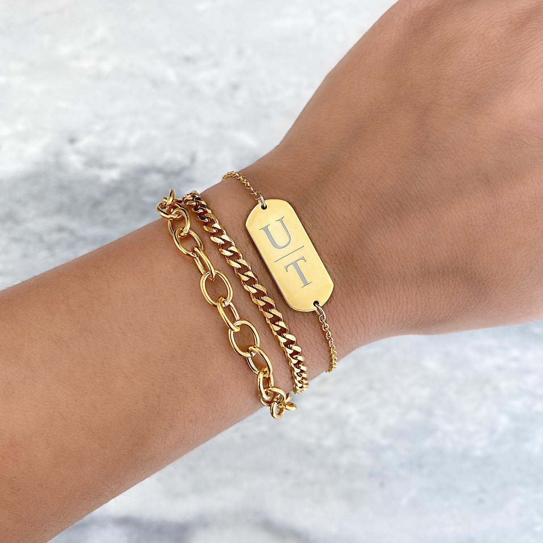 Trendy armbanden in een gouden kleur om te kopen