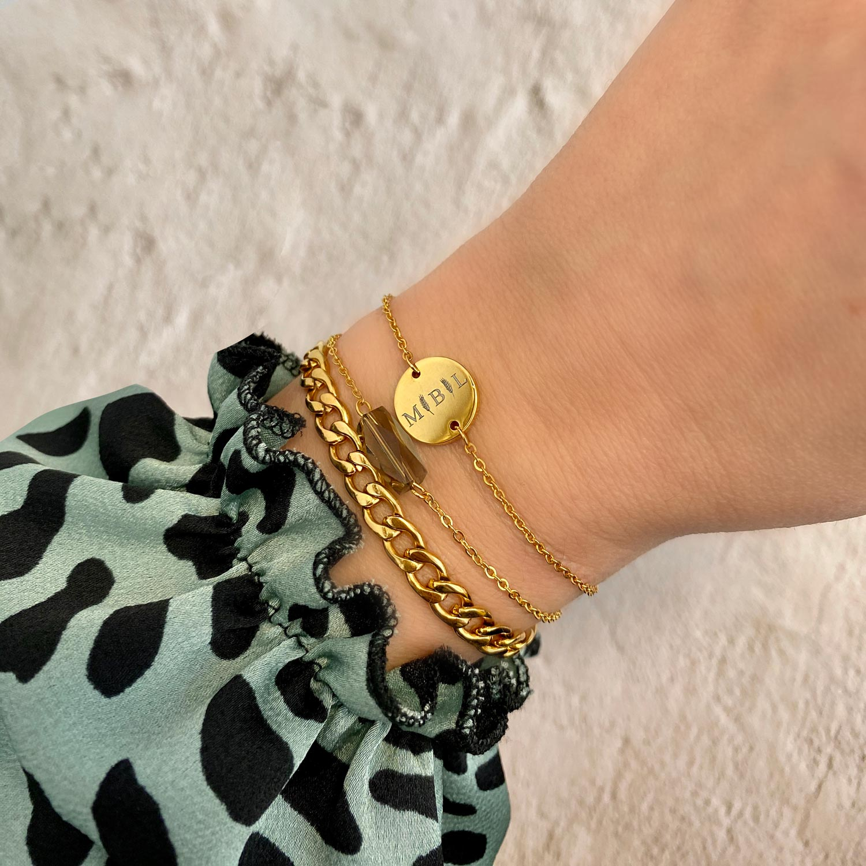 Chain Armband Grof Goud Kleurig