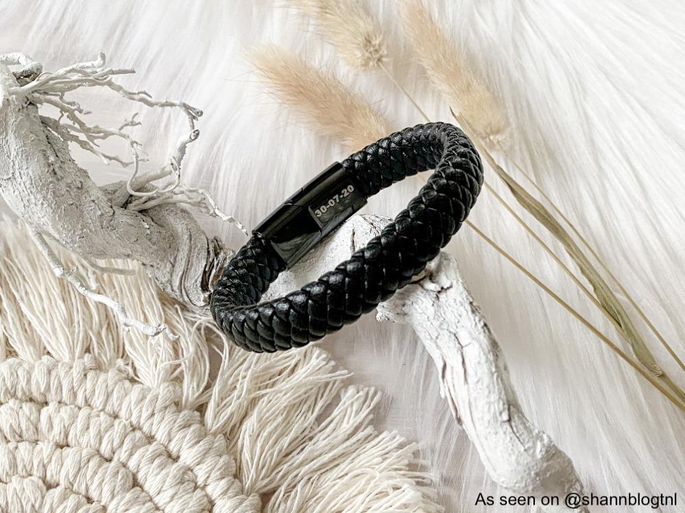 Heren armband met gravering aan de binnenkant