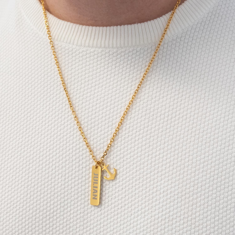 Wonderlijk Ketting mannen met naam anker goud | Shop nu op Finaste.nl! LB-26