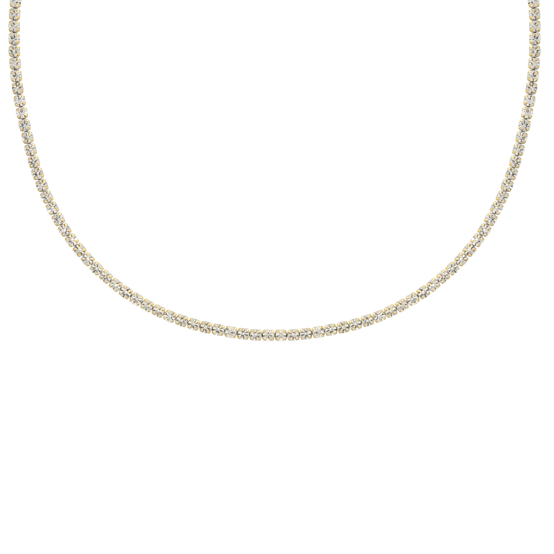 Tennis necklace goud kleurig