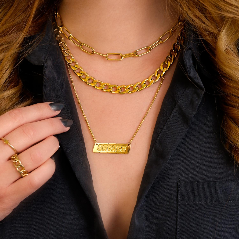 Mooie set met sieraden om de hals voor een trendy look