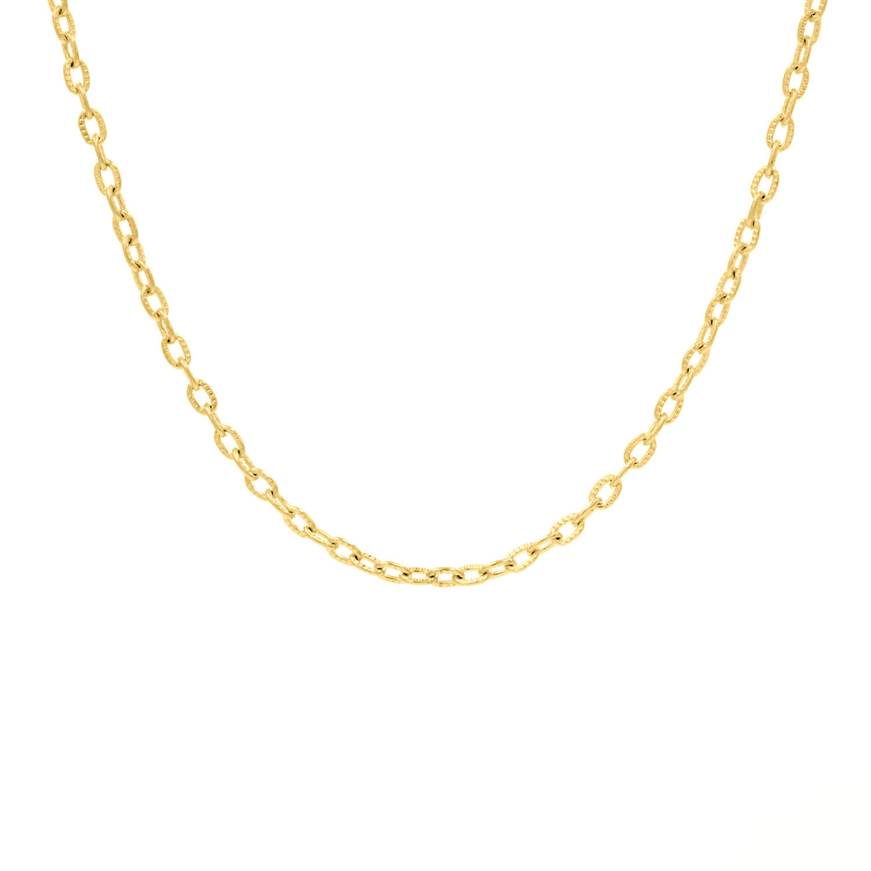 Gouden minimalistische ketting met schakeltjes