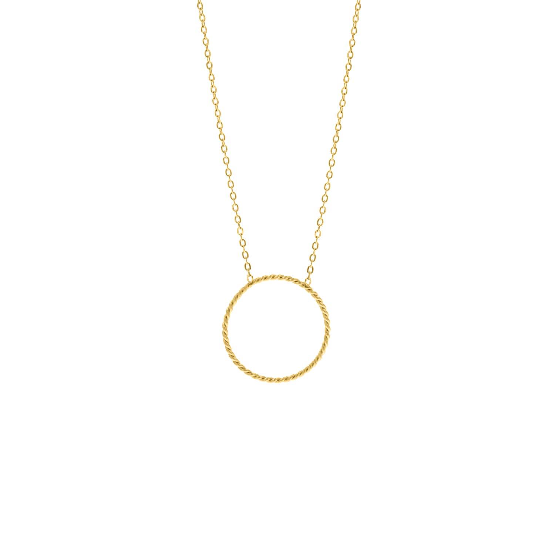 Minimalistische gouden ketting met cirkel