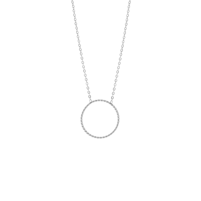 Minimalistische stainless steel ketting met cirkel