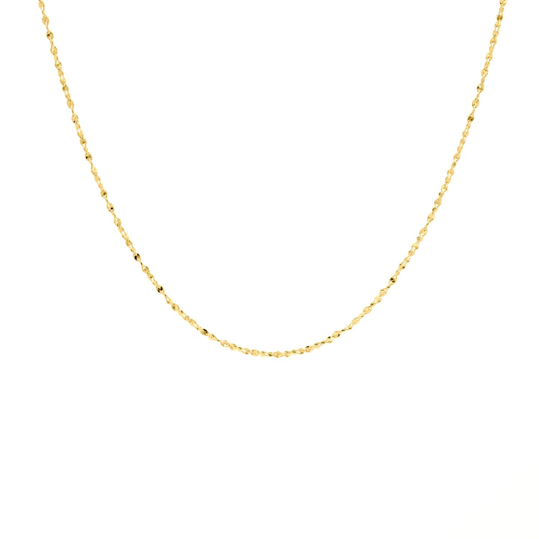 Gouden minimalistische ketting fijn