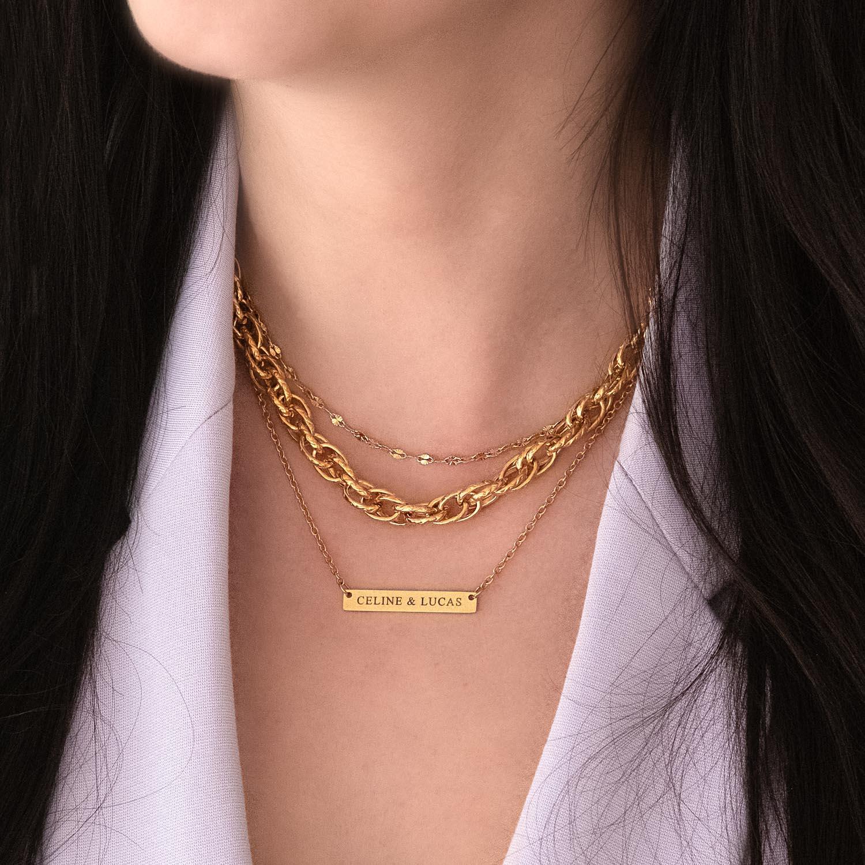 Ketting goud om de hals voor een trendy look om te kopen