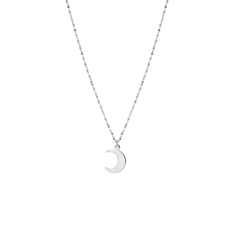 Zilveren ketting met maan