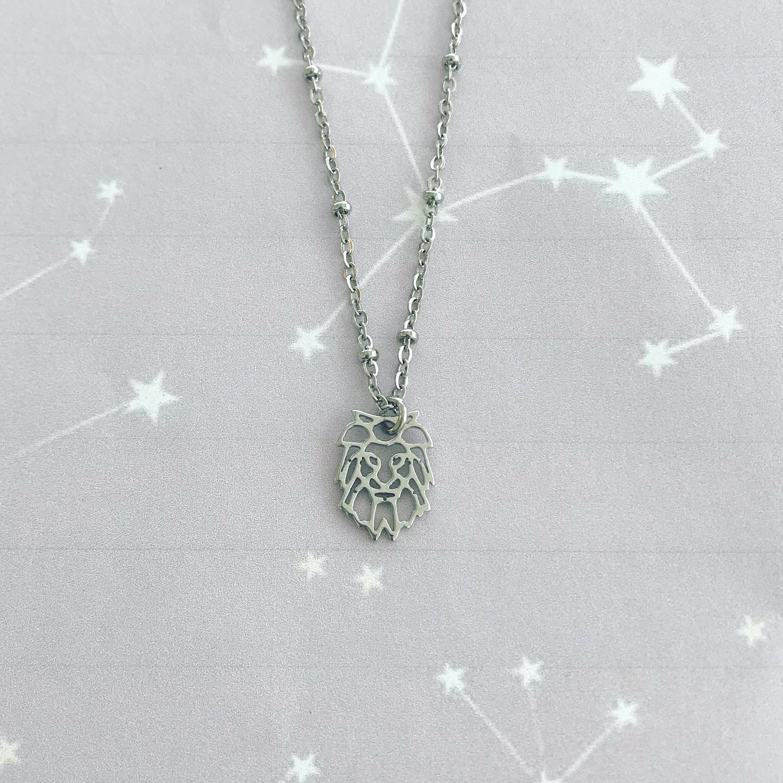 Zilveren leeuwen ketting van het sterrenbeeld