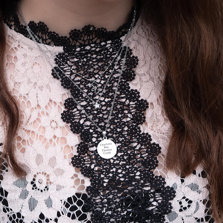 Naam ketting in het zilver voor een fijne look