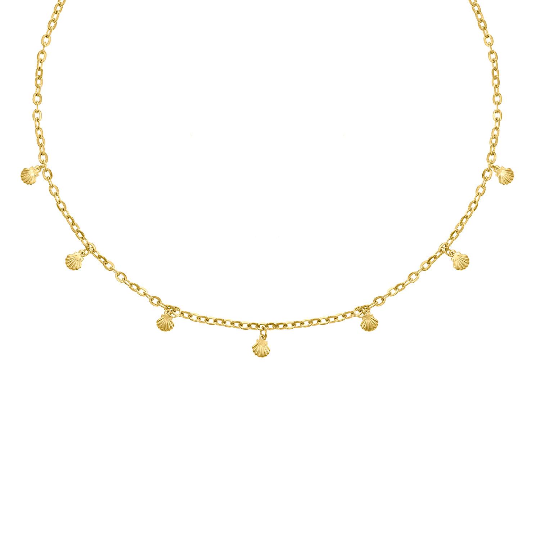 gouden ketting met mini schelpjes