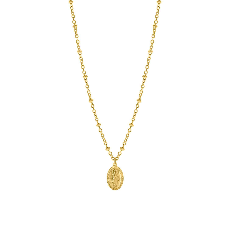 Gouden ketting met hanger Maria