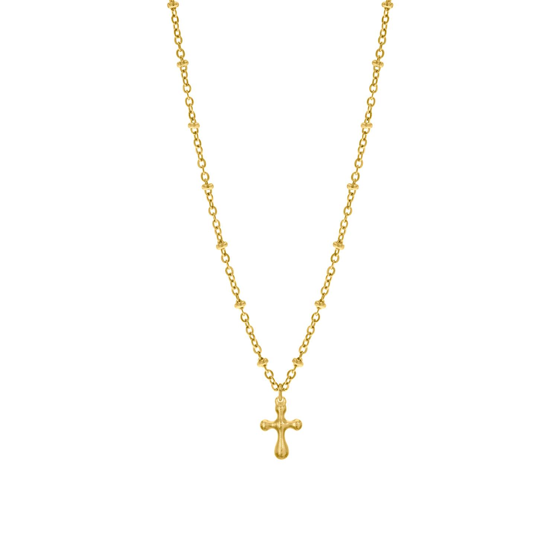 Gouden ketting met hangertje en kruisje
