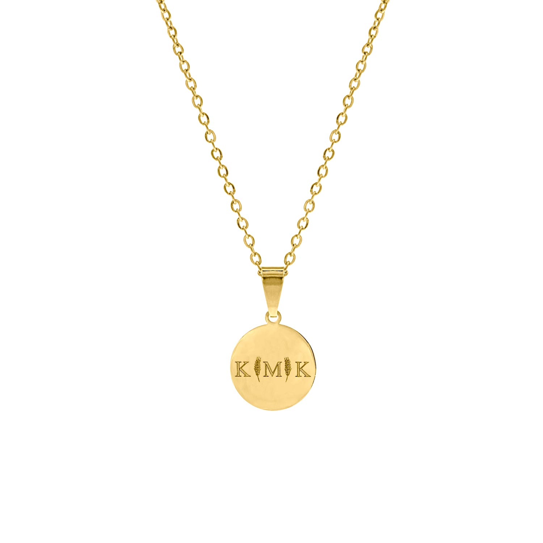 Letter ketting 3 initialen goud kleurig