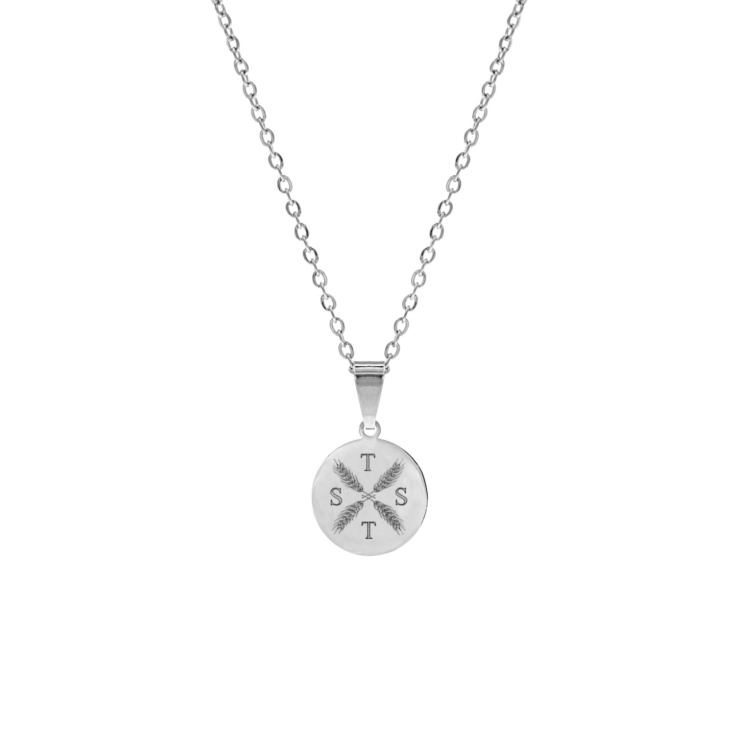 Ketting vier letters Zilver