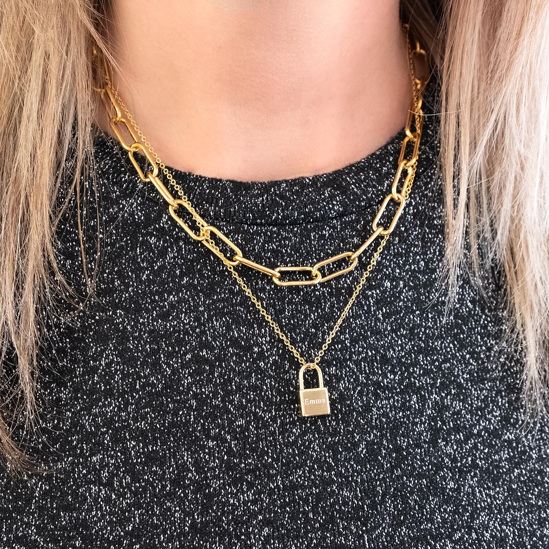gouden graveerbare ketting voor om de hals voor een leuke look