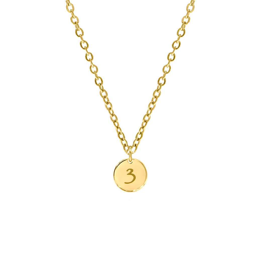 Lucky Number Ketting Goud