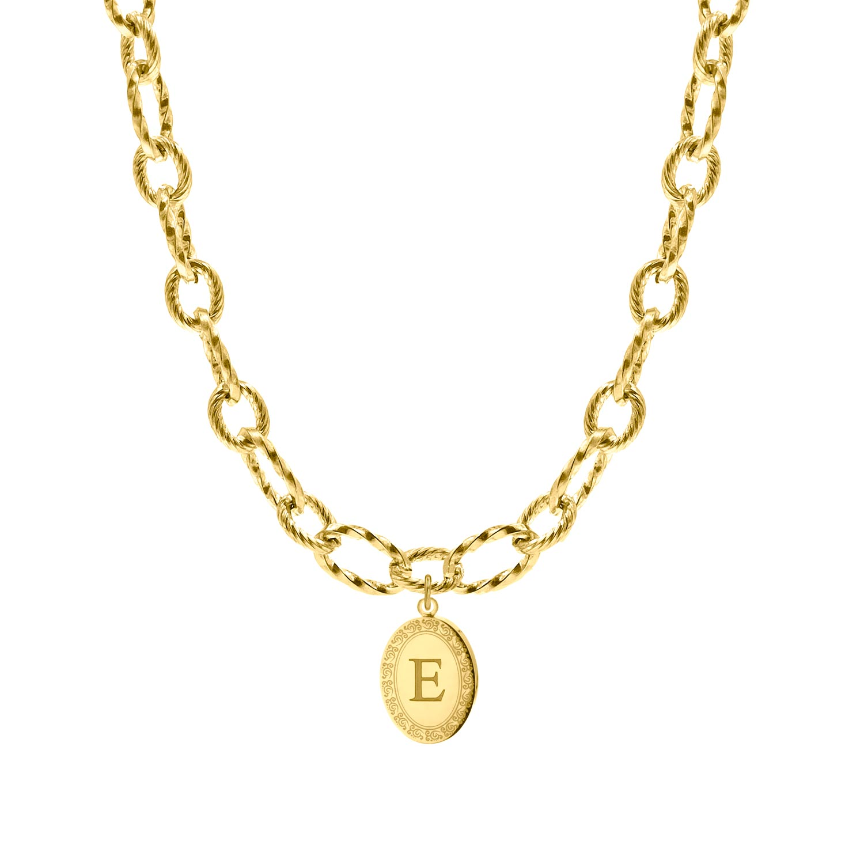 Chain ketting met bedel graveren goud