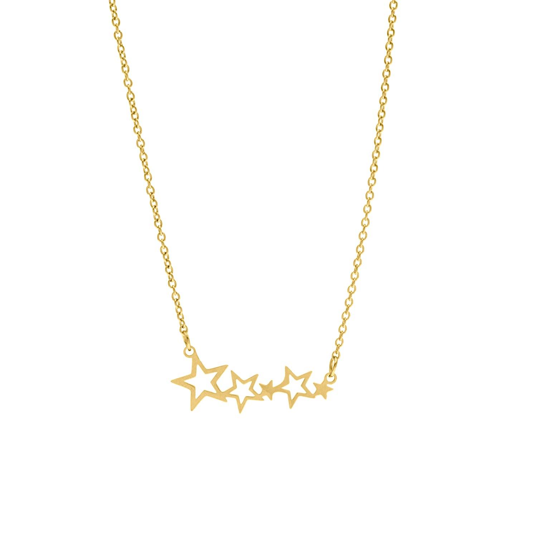 Ketting met sterretjes hanger goud