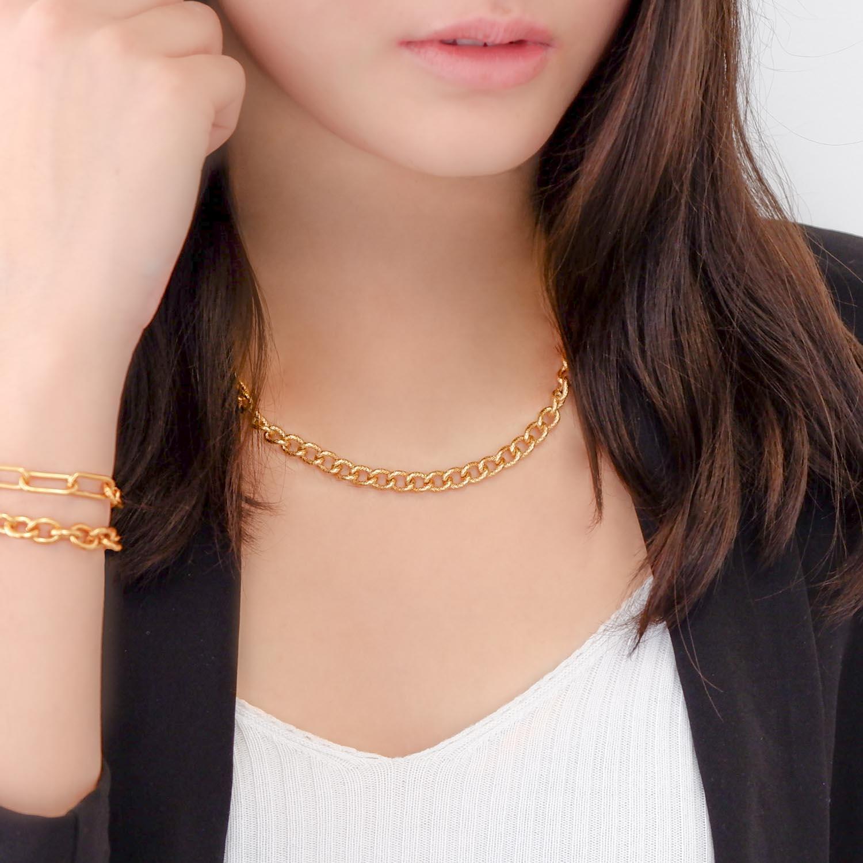 Trendy ketting in een gouden kleur voor een trendy look