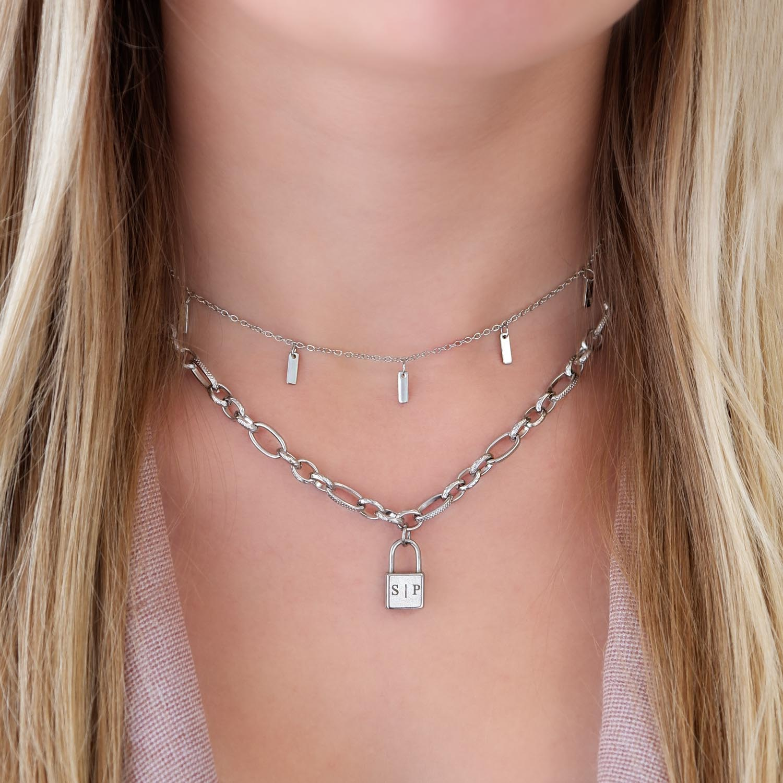 Mooie ketting met hanger in het zilver