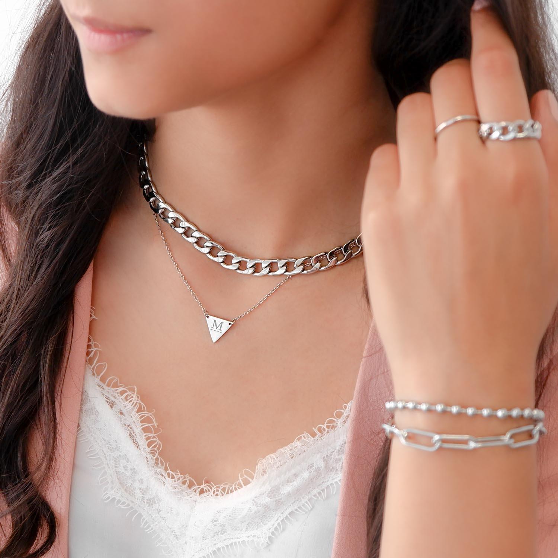 Trendy ketting met grote chain om te kopen