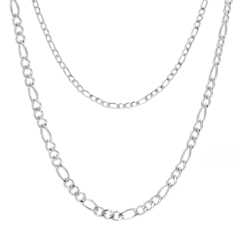 Zilveren finaste ketting dubbel
