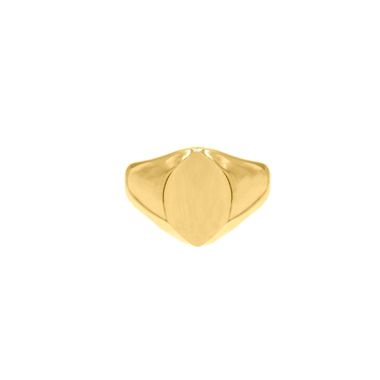Grote zegelring goud kleurig