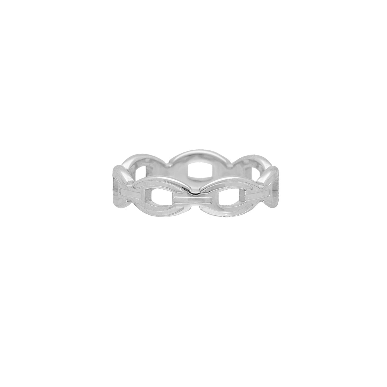 Ring chunky chain kleur zilver