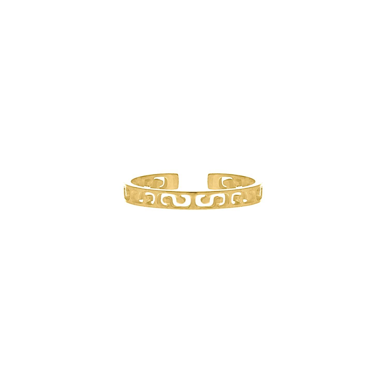 Minimalistische ring print goud kleurig