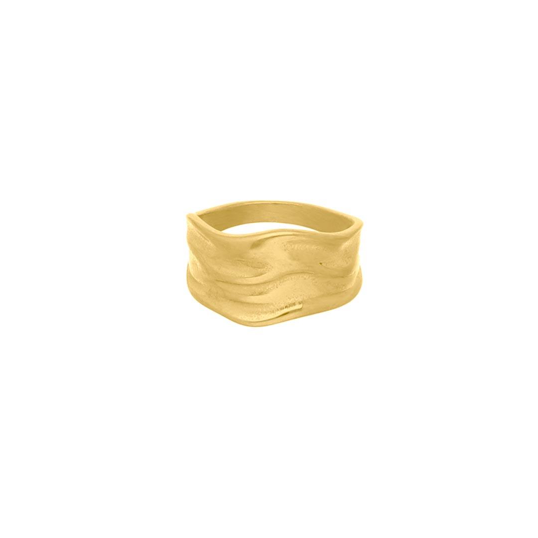 Grove ring statement goud kleurig