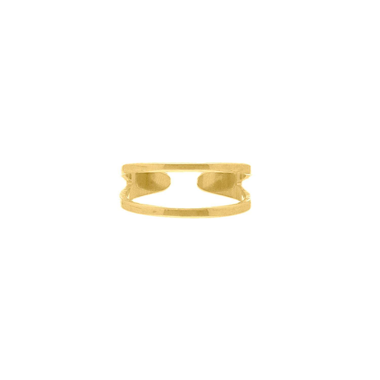 Dubbele Ring Verstelbaar Goud Kleurig