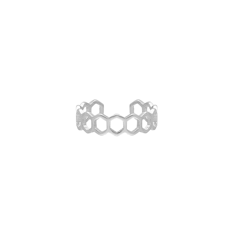 Minimalistische Ring Hexagon