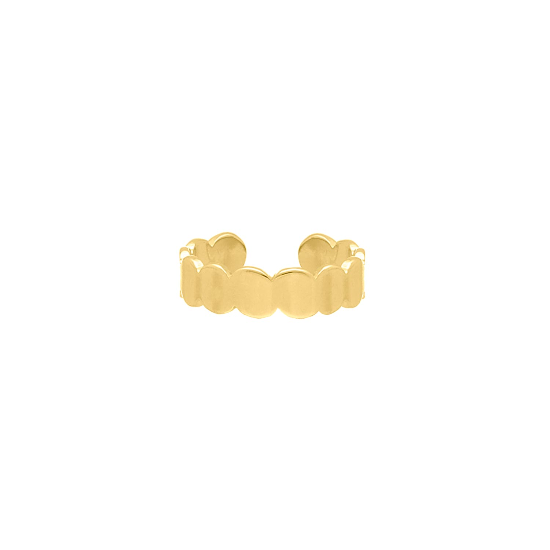 Verstelbare Ring Chunky Kleur Goud