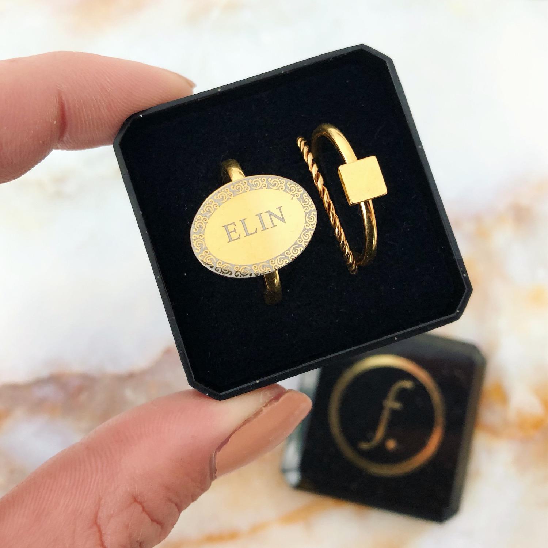 Gouden ringen mix in doosje