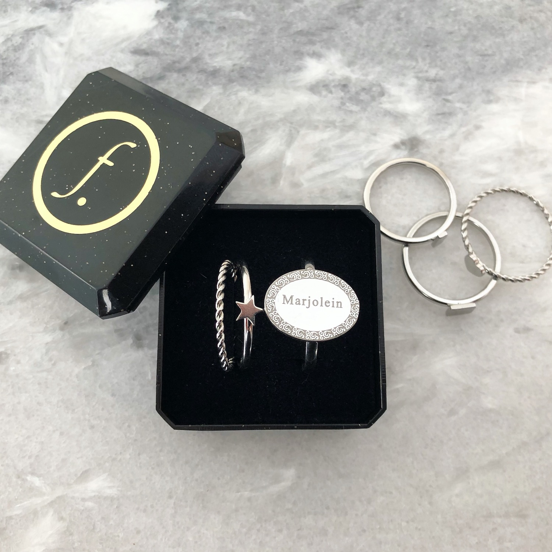 Zilveren ringen shoppen nieuw met sieradendoosje