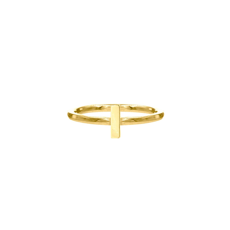 Ring met bar goud