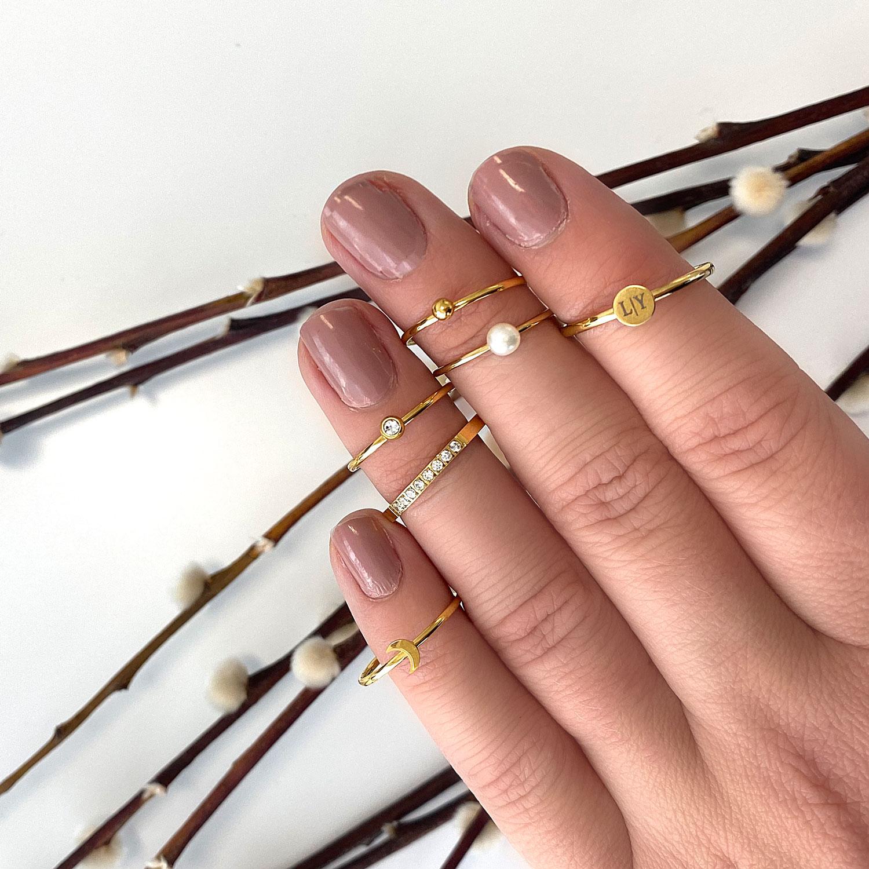 leuke gouden ringen om de hand