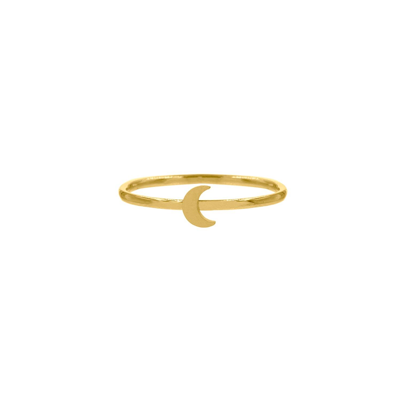 Ring met maan goud