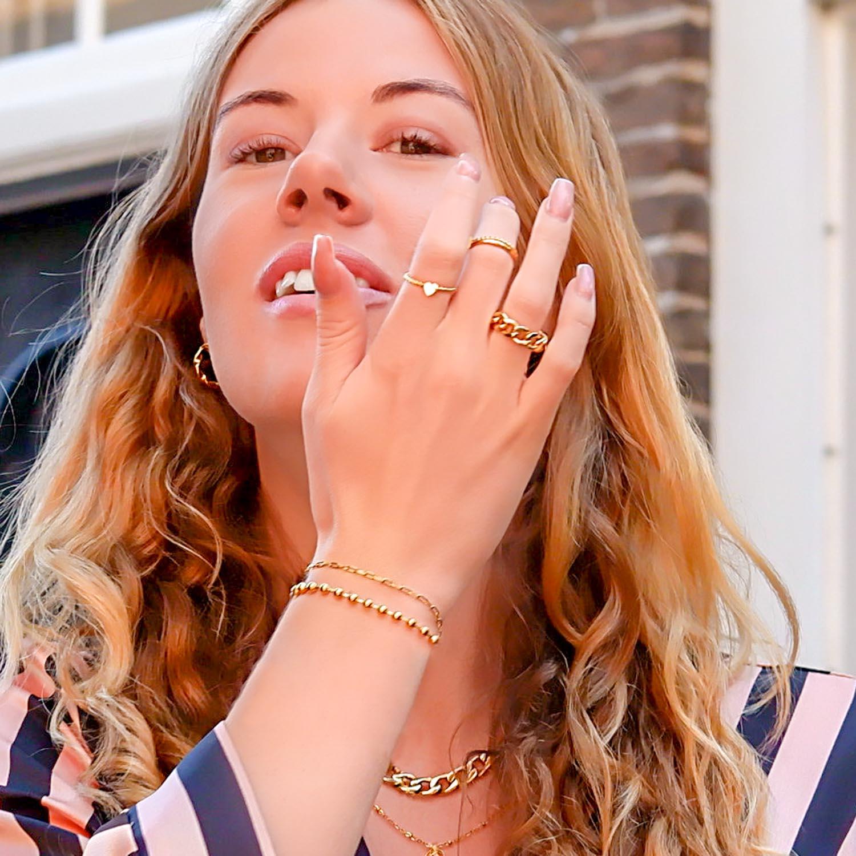 Trendy chain ring voor een mooie look om te kopen