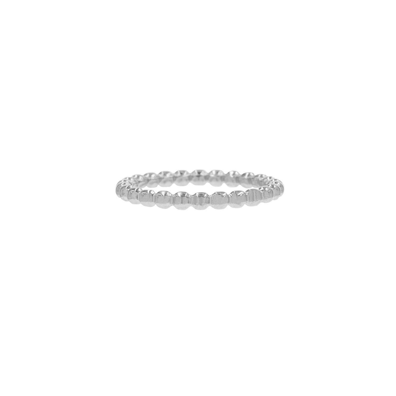 Plat bolletjes ring
