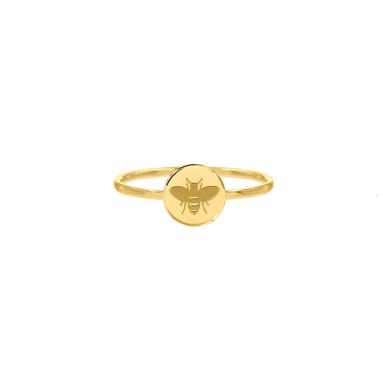 Ring met bijtje gold plated