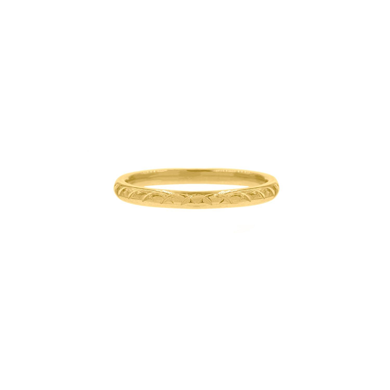 Ring Met Print Goudkleurig